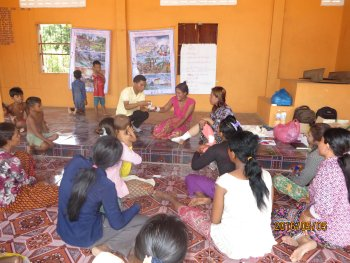 First aid training in Dangkor Village, Siem Reap Province