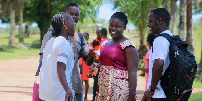 Students at Tubman University, Liberia