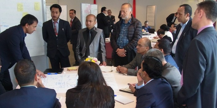 Nepal team discussing way forward at Tokyo L4UHC module