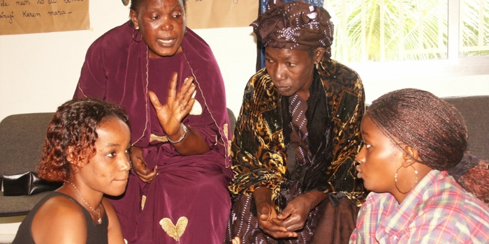 Women's Dialogue session in Guinea
