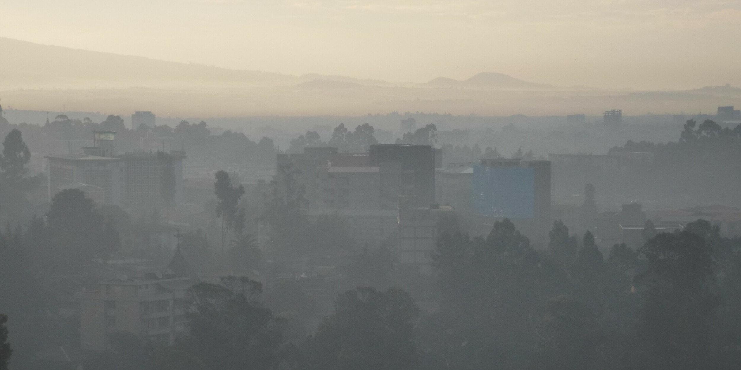 Haze over Addis Ababa