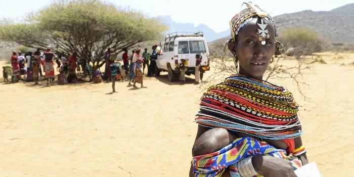 Mother and newborn in rural Kenya
