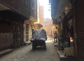 Typical street scene in Ezbet El-Nasr