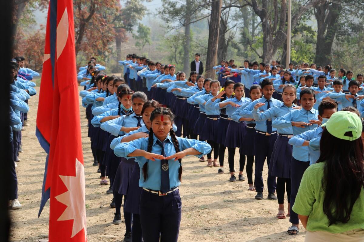Students at Durga High School