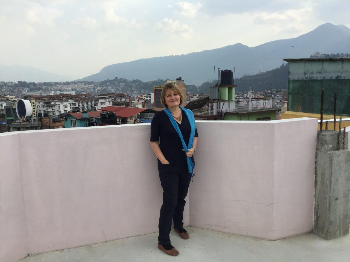 Margaret Walsh in Kathmandu