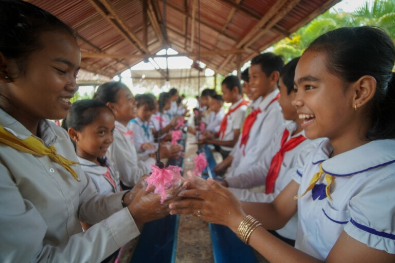 Cambodian schools aim for the stars