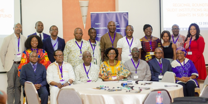 Staff of supreme national auditing institutions at Ghana roundtable meeting
