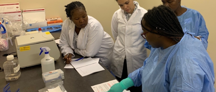 Laboratory training in Namibia