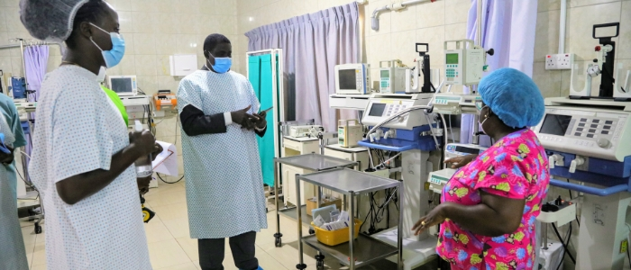 High tech ICU equipment made in Germany at ICU ward in Accra