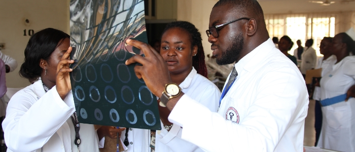 Ghanaian medical staff at a training organised by the Ghana Heart Initiative