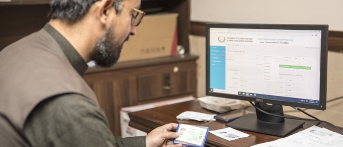 Nowshera OWO customer service agent registers client data in BRS