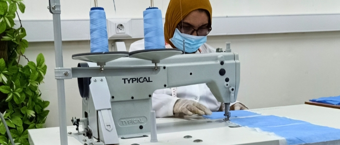 Production of personal protection equipment at the Libyan Korean Center in Tripoli