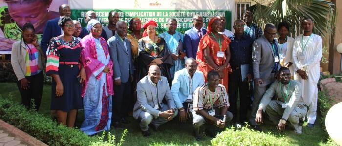 DeS-Ici platform members attend training in Ouagadougou