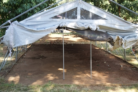 Ntcheu's isolation tent still needs a concrete floor and beds.