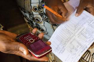 Community health workers register pregnant women in their villages via SMS