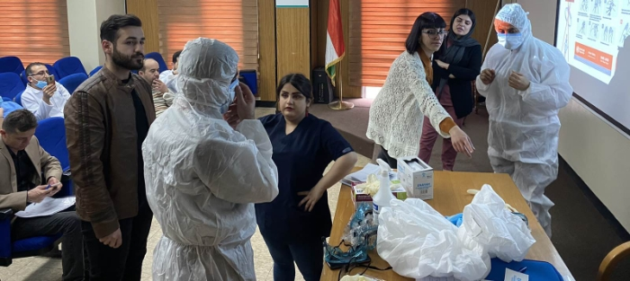 AISPO training Kurdish health workers on COVID-19 prevention
