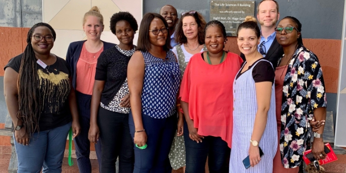 SEEG experts and Namibian training participants in March 2020