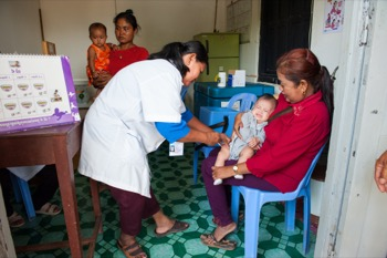 Poor women now receive cash payments when they bring their babies to scheduled check-ups