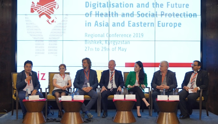 Panelists at Bishkek conference