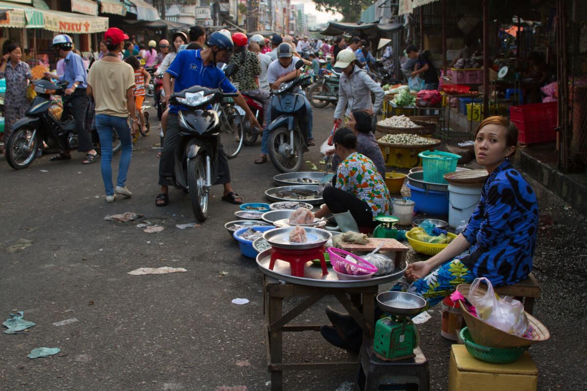 A market in Vietnam