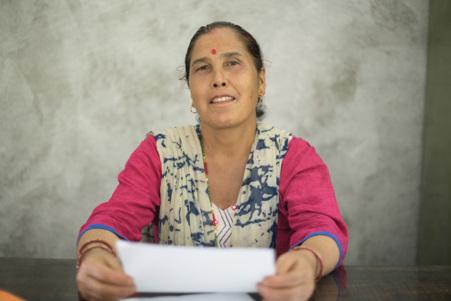 Manika Budhathoki, Chair of the Sikre Women's Cooperative