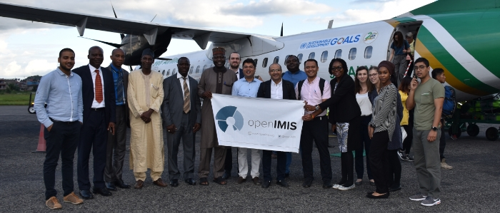 Delegates from Nigeria and Cameroon during an openIMIS study tour to Nepal, 2019