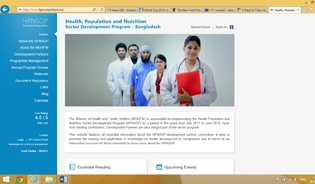 The homepage of the Development Partners Consortium website www.hpnconsortium.org