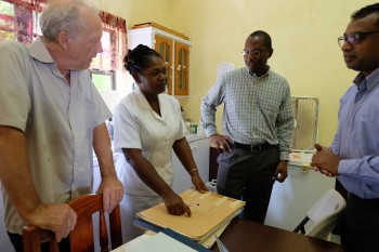 Discussing reporting formats with a community nurse