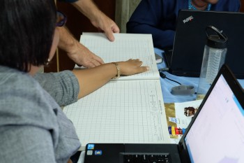 Paper-based forms are digitised as part of customising DHIS2