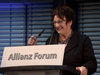 Germany's Minister of Economic Affairs and Energy, Brigitte Zypries, at the presentation of the German Global Health Award