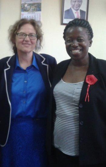 Dr. Elizabeth Ogaja and GIZ counterpart Dr Heide Richter-Arijoki