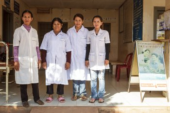 Cambodian health centre staff