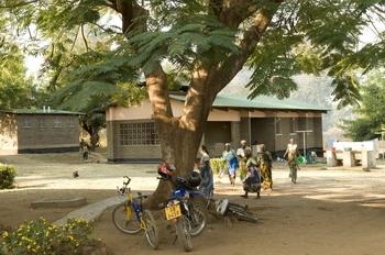 A remote health centre in Malawi