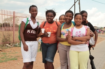 Young girls in Shoshanguve, a suburb of Pretoria