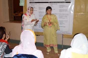 Dr. Shazia Haroon (right) at Working Group Meeting
