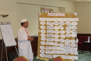 Dr Abu Zar presenting WHO SCC Implementation Plan