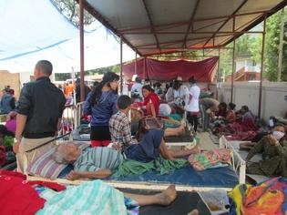 Emergency Treatment in Nuwakot District Hospital