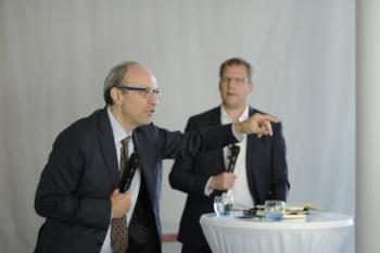 Stefan Dercon and Matthias Rompel