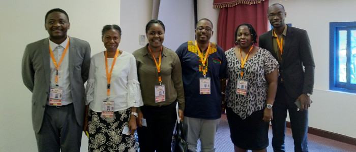 Pr Dramani, Ms Edison, Dr Somefun, Dr Onyango, Ms Kigozi, Mr Djagadou (from left to right)