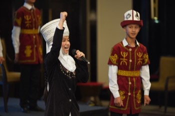 Young Kyrgyz Manas performers
