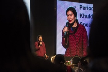 Ruby Raut, a producer of reusable period pants.