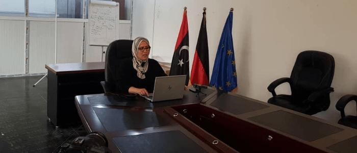 Dr. Alia Shiboub provides a webinar-based orientation training on COVID-19