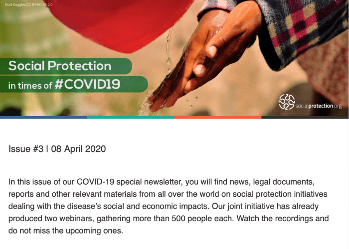 The online community's weekly Covid-19 newsletter