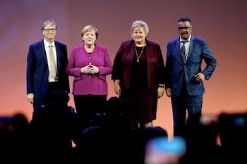 Bill Gates, Angela Merkel, Erna Solberg and Dr Tedros