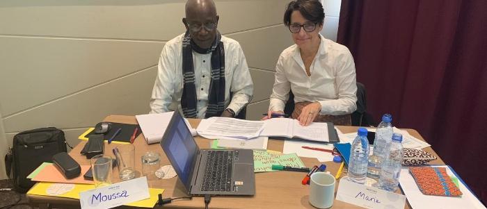 Marie Ganier-Raymond and Dr Moussa Gueye, the moderator team