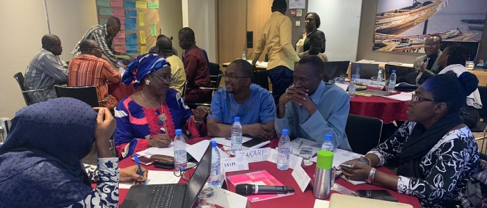Participants working on their transfer projects