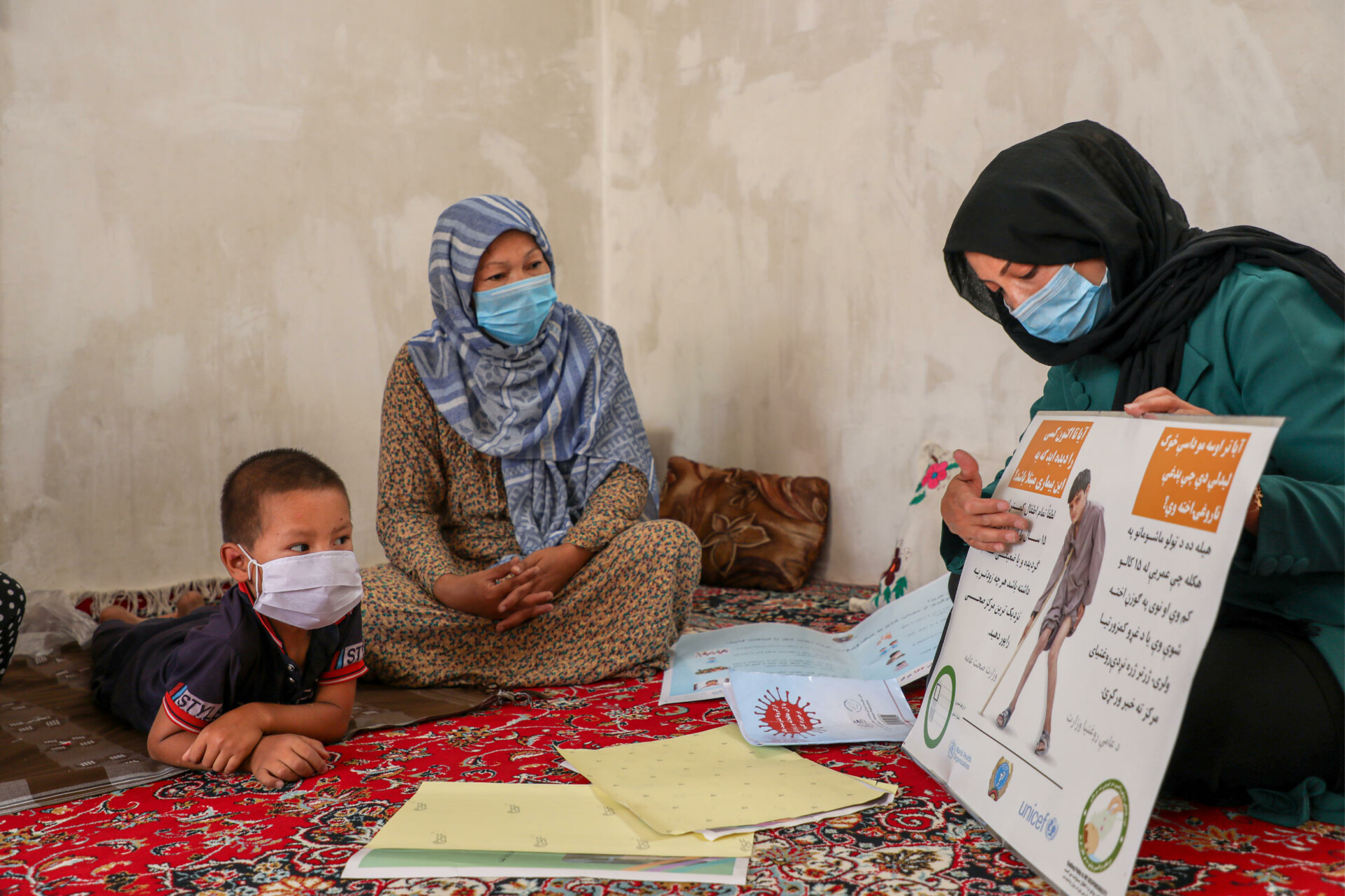 A polio worker in Mazar, Balkh province, Afghanistan