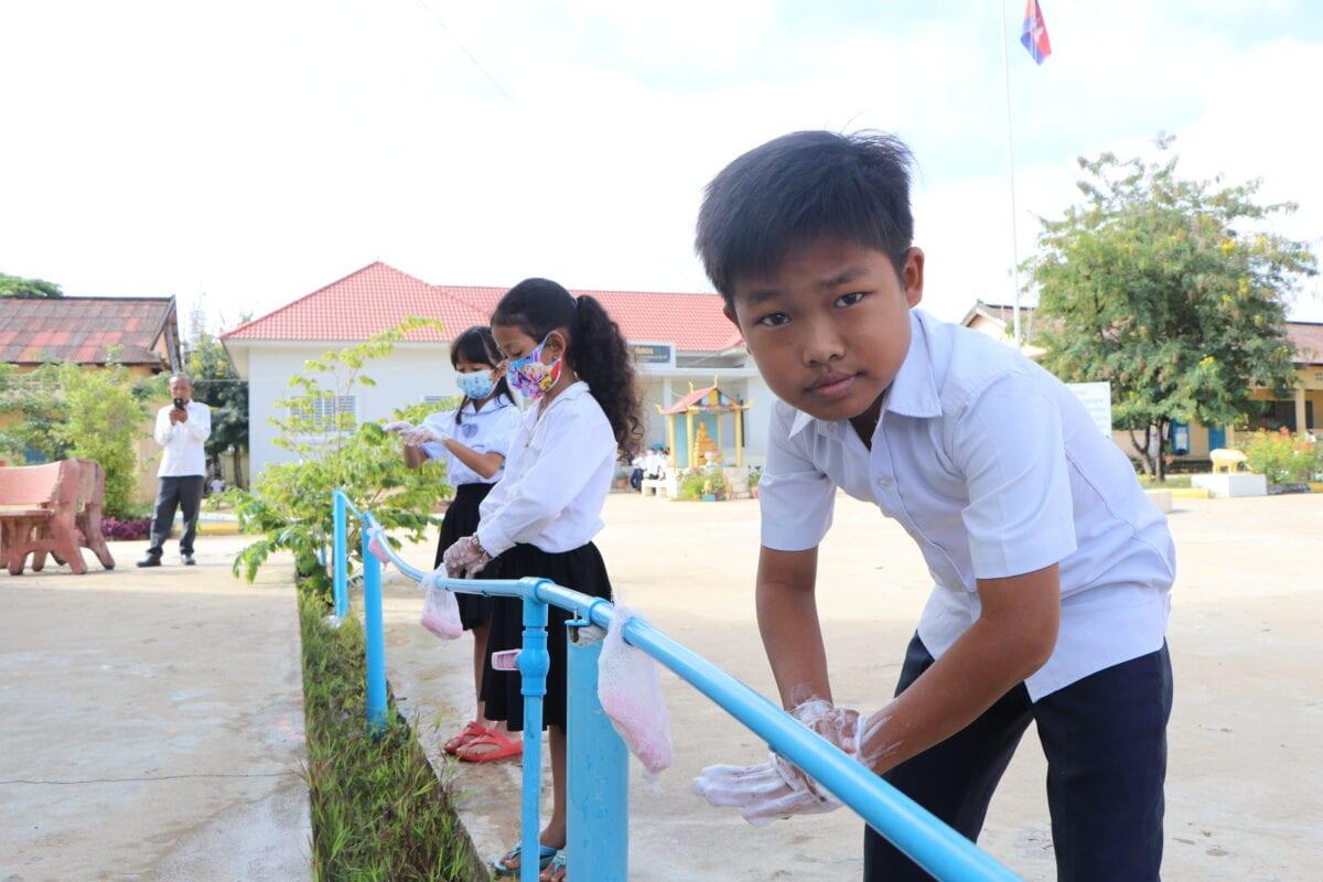 Simple handwashing facilities