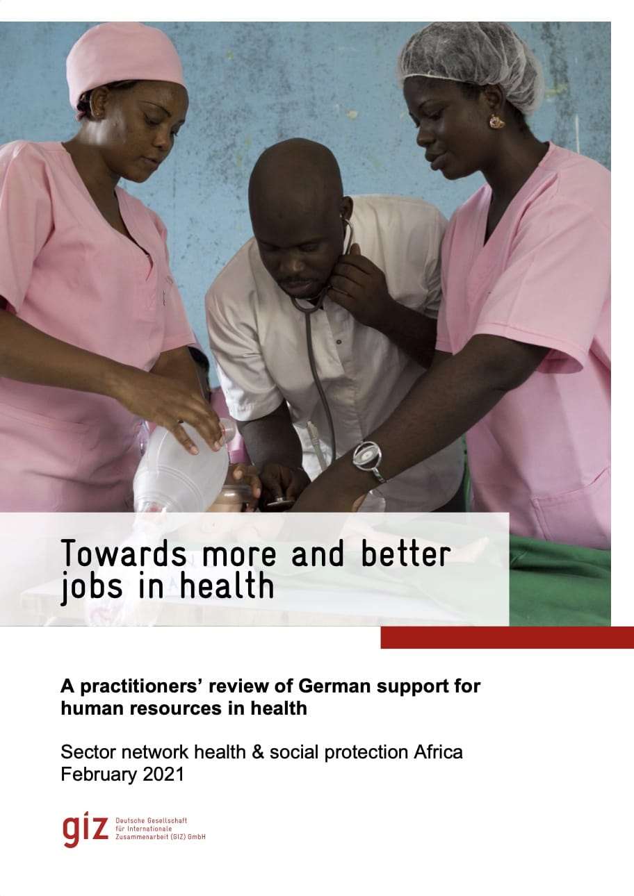 Towards more and better jobs in health